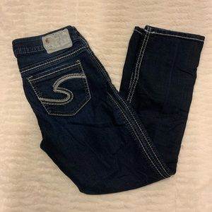 Like New Silver Jean Jeans French Capris Size 26